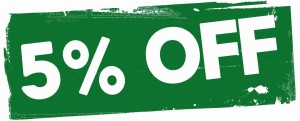 5 percent discount voucher